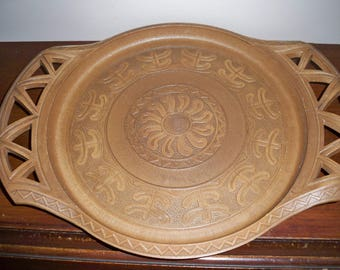 1970's Faux Wood Tray - Made in Italy