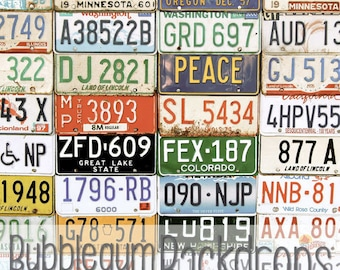 ANY Size - See Price List - License Plates - Vinyl Photography  Backdrop Photo Prop