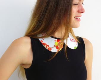 Necklace, bib. Recycled end adjustable