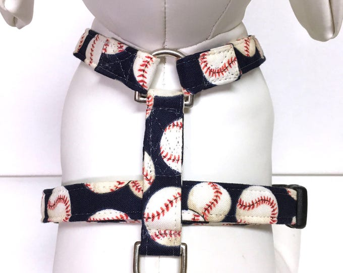 Featured listing image: Dog Harness- The Blue Baseball