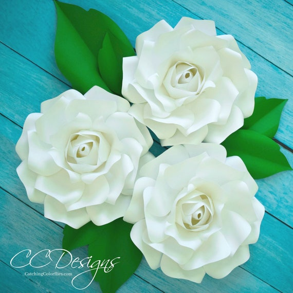 Small paper rose flower templates tutorial wedding paper mightylinksfo