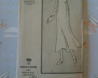 "B38"" Dress -Duchess de Crussol pattern 1930s - Pictorial Review pattern 6459 UNCUT"