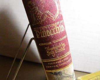 Vintage Book - Illustrated Junior Library - The Adventures of Pinocchio - C. Collodi - This Edition Copyright 1946