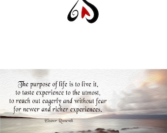 Notecard - The Purpose of Life