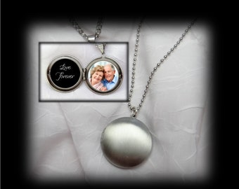 Simple Antique Silver 2 photo Men's locket or Women's locket