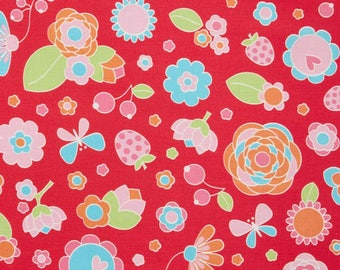 Flutterberry Main Red Yardage - C4590 - Melly & Me - Riley Blake Designs