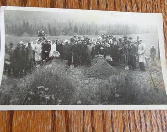 Vintage RPPC Graveyard Vintage RPPC Photograph Oringal Burial Grave Yard Grave Site Antique RPPC