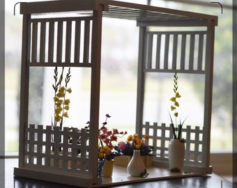 1:12 Dollhouse Miniature Garden Arbor ( white) / Miniature futniture/ BD GA002