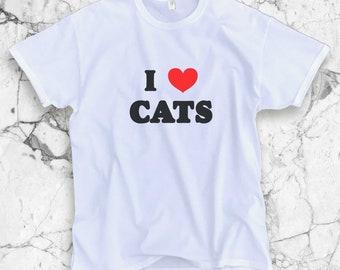I Love Cats Shirt - Cat Shirt | Cat T-Shirt | I Love Cats | Cat Person | Cat Lady | Cat Shirt | Cat T-Shirt | I Love Cats | Cady Lady Shirt