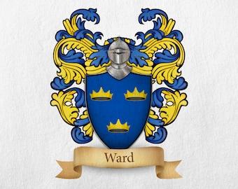 Ward Family Crest - Print