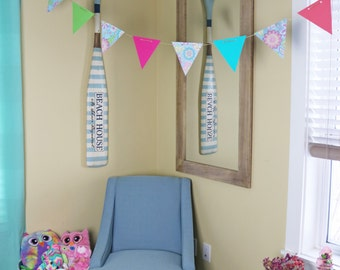 Flower Bunting, Room Decor, Paper Bunting Colorful Bunting, Flower Banner, Nursery Decor, Party Decor, Spring Decor, Summer