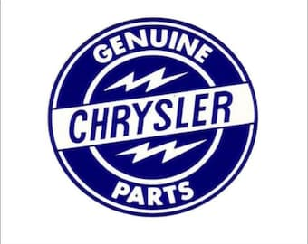 Genuine Chrysler Parts Sticker/Decal
