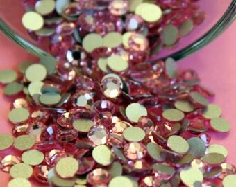 36 Swarovski Flatback Crystals - Light Rose 16 ss Crystals - Pink Crystals