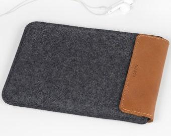 iPad Mini Cover - iPad Mini Sleeve - iPad Case - iPad Mini Leather - Felt Leather Case - iPad Cover