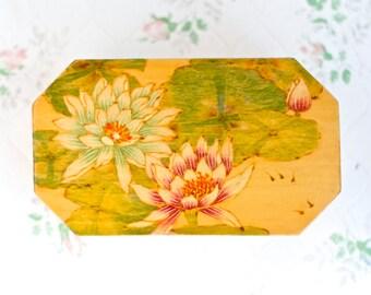 Water Lily Trinket Box