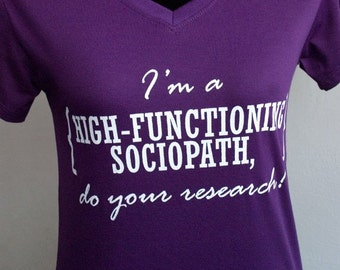 Sherlock I'm a high-functioning sociopath do your research t-shirt short sleeve