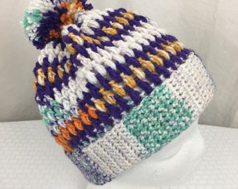Crochet Slouch Beanie, Baby, Child, Adult Size Slouch Beanie- Hat, Ski, winter hat, clay prarie, purple