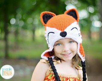 CROCHET PATTERN Roxy the Forest Fox Hat PDF Crochet Pattern with Instant Download