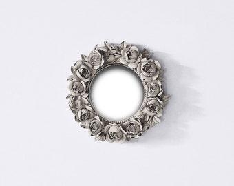 White Shabby Chic Photo Frame, Antique Flowery Shabby Chic Frame, Vintage Roses Baroque Frame, White Round Baroque Frame, Gustavian Wedding