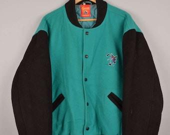 moskitos essem baseball jacket, vintage bomber jacket, vintage varsity jacket, vintage college jacket