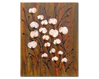 Enchanted Original Abstract Flower Painting Large Contemporary Canvas Wall Art
