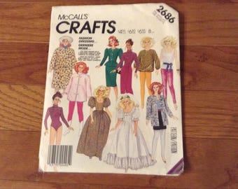 Vintage McCall's  pattern 2686 Barbie Clothes   uncut