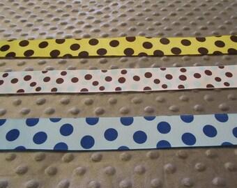10 Yards 1.5 Inch Polka Dot Grosgrain Ribbon