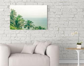 Palm Tree Decor, Palm Tree Print, Nature Print, Tropical Print, Coastal Canvas Art, Photography Print, Extra Large Wall Art, Huge Canvas Art