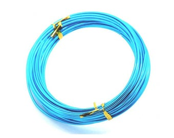 10 m 2mm blue aluminum wire