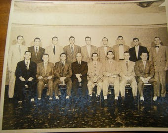 Old photograph-1954 photo-group photo-adult class photo-art-crafts-collage-