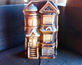 Vintage Japanese Wall Pocket, Wall Vase, Victorian House, Match Holder, Desk Accessory, Cottage Chic