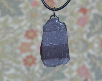 Slate necklace, steam punk, Victorian slate, stripy grey pendant, natural stone, shaped slate, striped gray necklace, Edwardian school slate