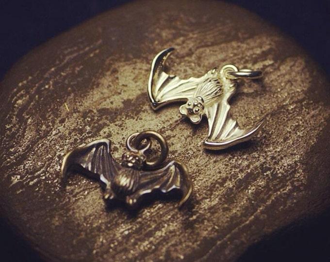Silver Bat Pendant | Gothic Bat Charm | Oxidized Silver Charm | Bat Jewelry | Sterling Silver Bat | Vampire Pendant | Morbid Jewelry