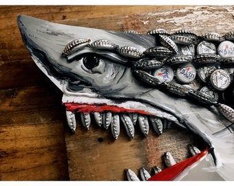 Upcycled Shark Head.