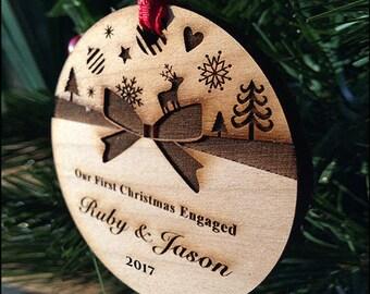 Christmas Ornament, couple ornament, custom personalized ornament, our fist christmas ornament // SKU#8F