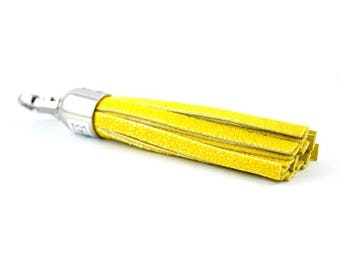 Pompom galuchat jaune