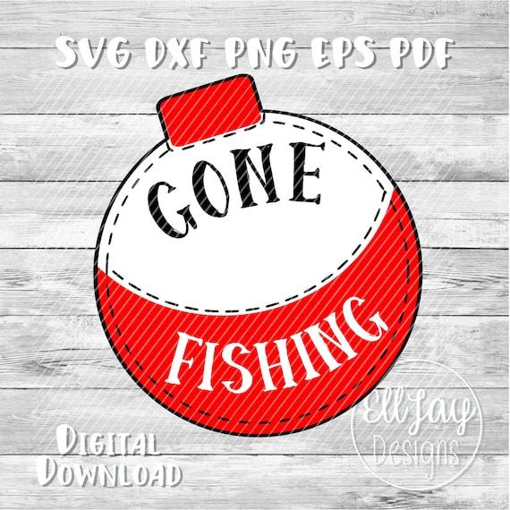 Fishing svg Gone fishing svg bobber svg fishing clipart