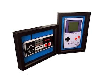 Video Game Art Nintendo Controller Nintendo Game Boy 3D Pop Art 1980s Print Artwork