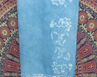 Batik Blue Rayon Sarong/Scarf