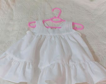 White festive Babykleid romantic in vintage look