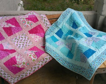 Bright and fun baby quilts made to order