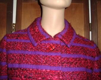60's Purple & Red Suit Fabulous!