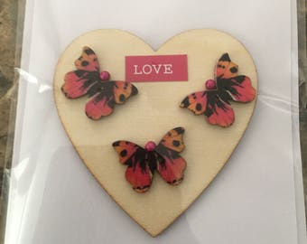 Hand made Card with Butterflies