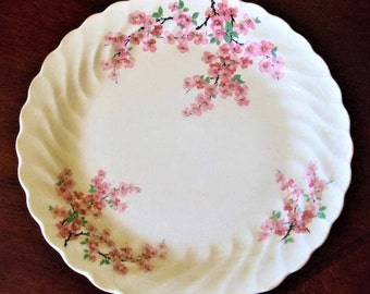 Vintage Royal China USA Apple Blossom 4 Person Dinner Set, National Brotherhood of Operative Potters Elegant Floral 12-Pieces Dinner Set
