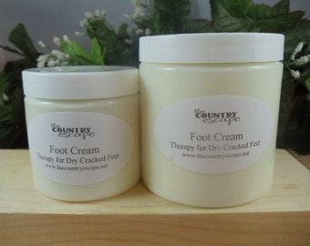 Foot Cream- Intense Foot Therapy- Soothes and Comforts Dry Achy Cracked Feet with Peppermint, Tea Tree Essential Oils