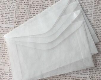 Medium Glassine Envelopes for Safe Keeping of Photos, Artist Trading Cards, Journal Embellishments Clear Glassine Envelopes for Decorating