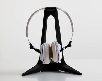 Headphone Stand, Gaming Headset, 3D printed, Stand, Modern Accessory, Minimal, Design, Musically, Music Accessory