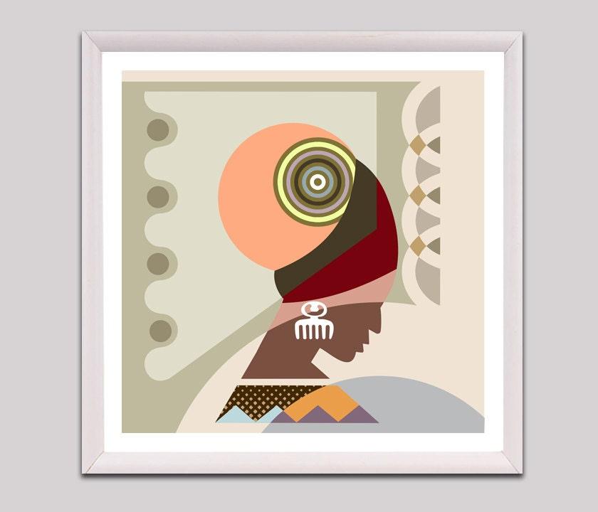 Black Woman Art Black Woman Painting African American