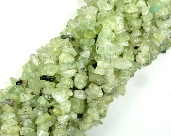 Prehnite, 4-8mm Chips Beads, 34 Inch, Long full strand, Hole 0.8 mm (265005001)