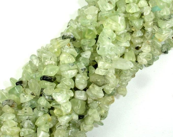 Prehnite, 4-8mm Chips Beads, 34 Inch, Long full strand, Hole 0.8 mm (265005001)
